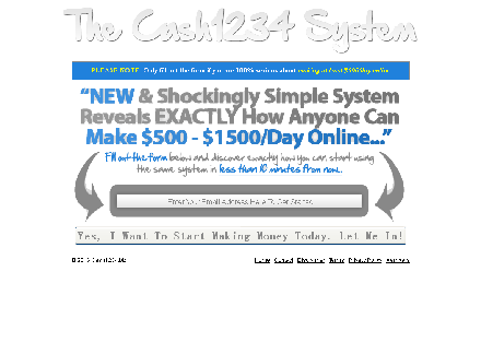 The Cash1234 System discount coupon