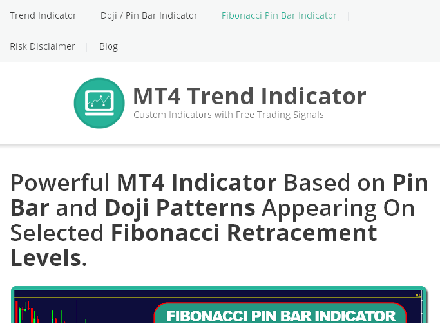 FIBONACCI PIN BAR INDICATOR FOR MT4 coupon code